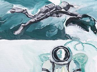 Abstrait n°2, 2019, huile sur toile, 60x