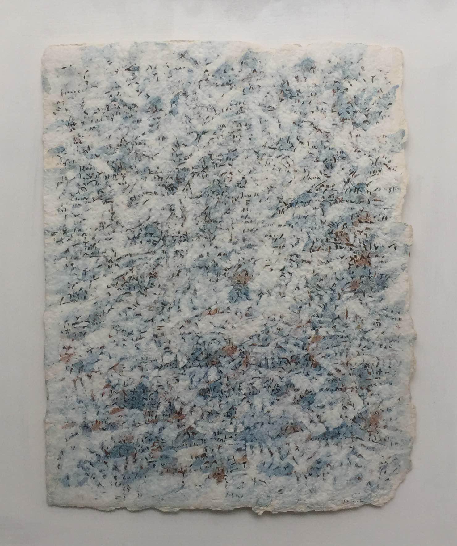 油画莎草纸 25*32 Nuée bleutée