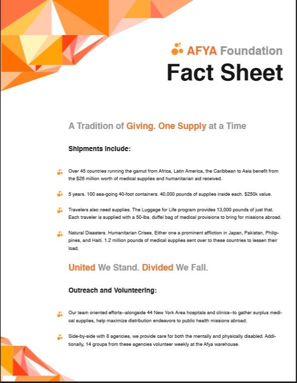 AFYA Fact Sheet