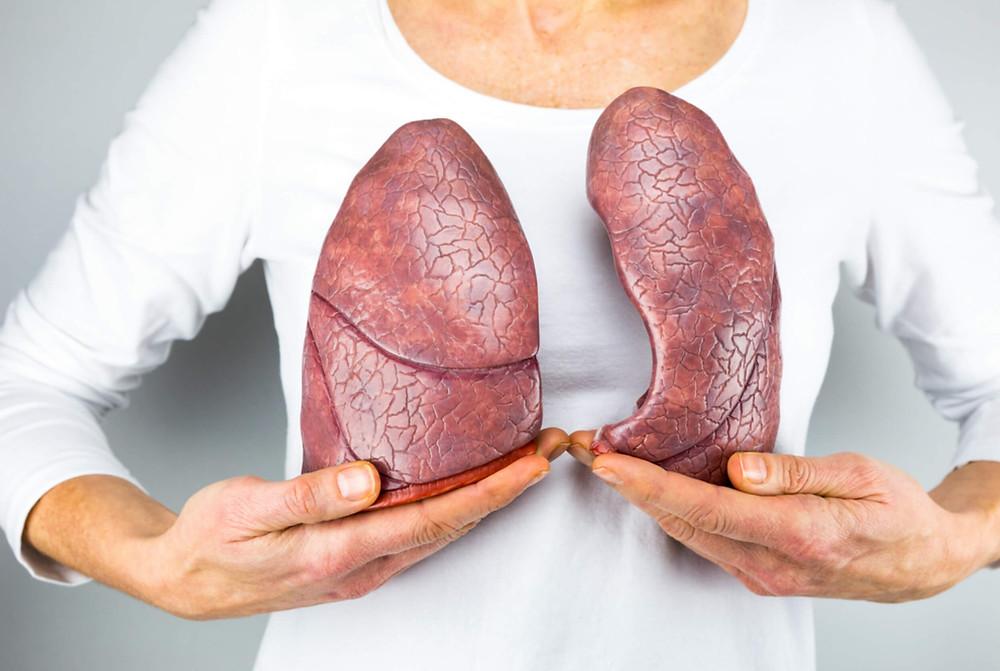POUMON - OXYGENE - OSTEOPATHIE - CORPS EN MAIN