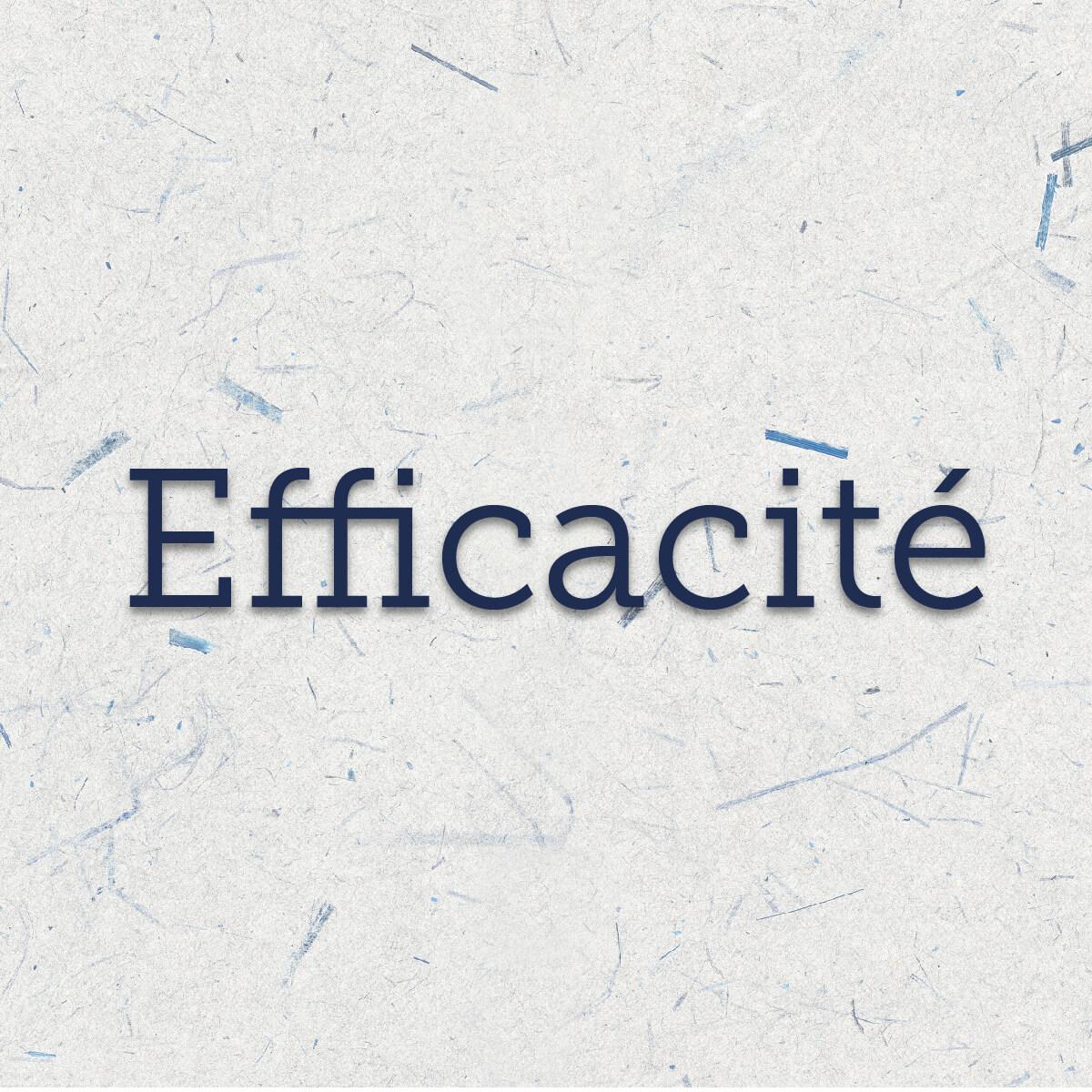 Efficacité : faculté de réaliser en un court laps de temps une séquence complète de façon réussie.