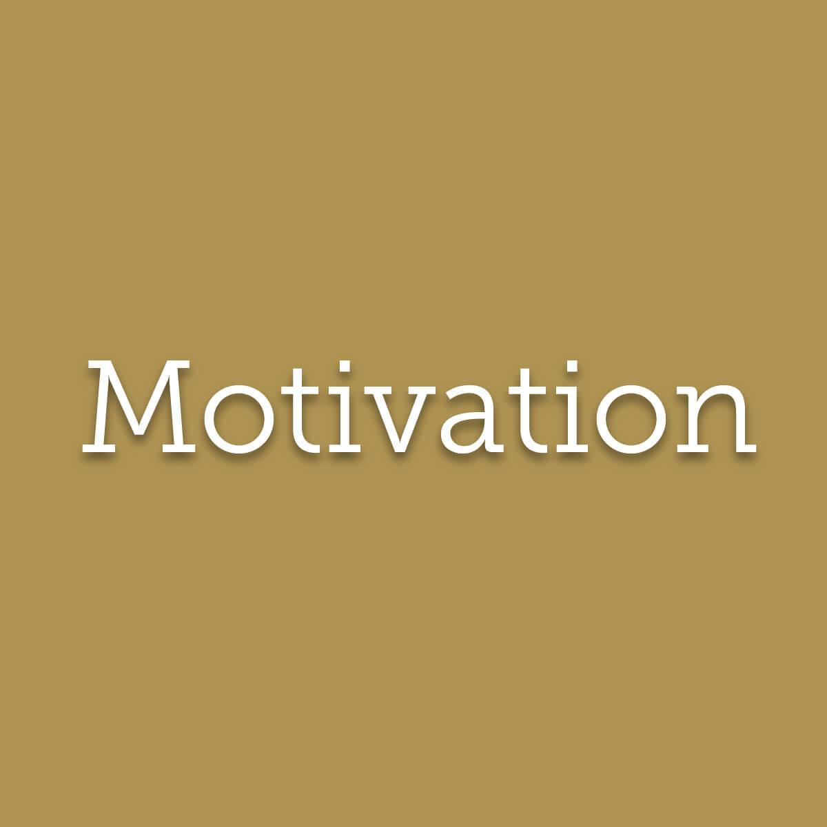 Motivation : moteur émotionnel de l'action, elle donne envie de s'investir et de se dépasser.