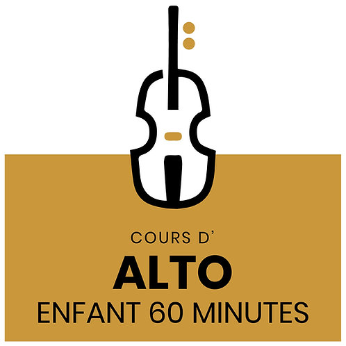 FORFAIT COURS D'ALTO 60 minutes pour enfants