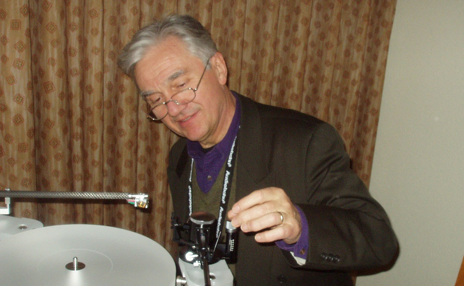 Wally Setting up Turntable 2 cropped.jpg