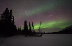 Aurora over Wiseman, Alaska