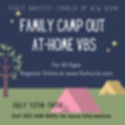 Yellow Tent Camping Sleepover Invitation