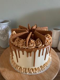 Lotus Biscoff celebration cake