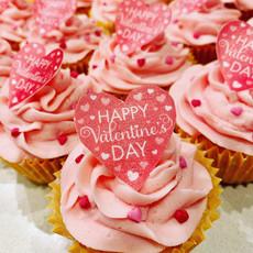 Happy Valentine's vanilla cupcakes