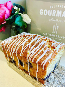 Blueberry and lemon drizzle loaf