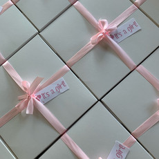 Pink baby shower boxes