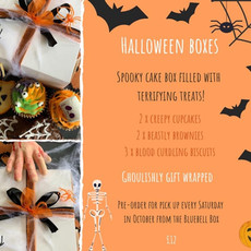 Halloween treat box flyer