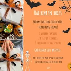 Halloween treat box flyer