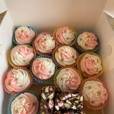 Vanilla cupcakes & rocky road