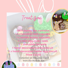 Easter bunny treat box flyer