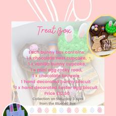 Easter bunny treat box flyer
