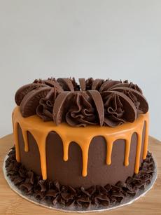 Chocolate orange celebration cake