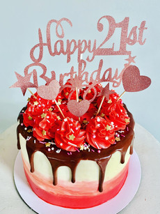 21st chocolate ombre cake