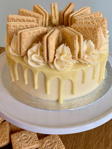 Custard cream celebration cake