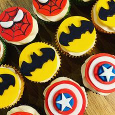 Marvel inspired birthday cupcakes