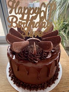 Gluten free 60th Birthday chocolate orange cake