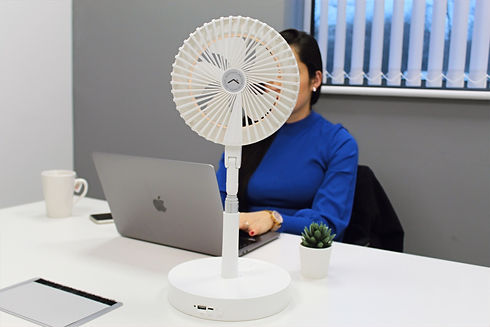 Smart ring light, smart desk fan. Perfect for work from home.