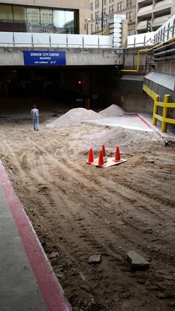 Preparing area for concrete