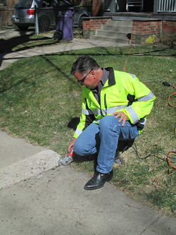 Sidewalk Caulk Repair