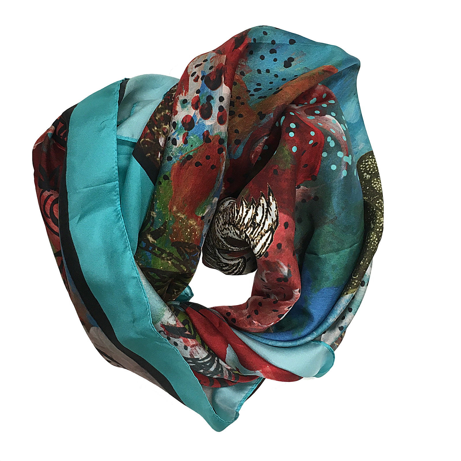 Scarf Les barbares enroulee