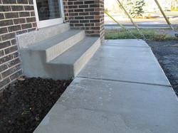 Forum Engraving Sidewalk and Stairs