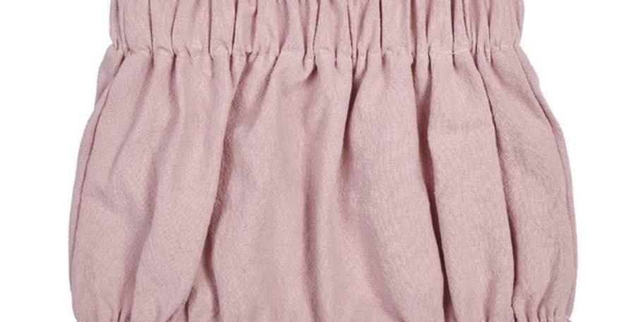 Rose Linen Baby Shorts