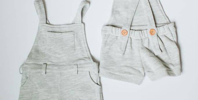 Gray Short Overalls
