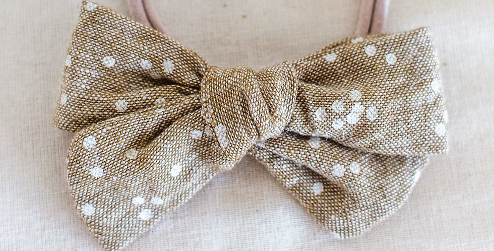 Speckle Matching Headband Bow