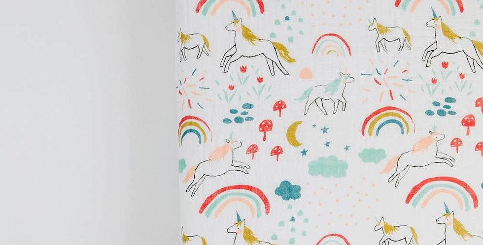 Unicorn Land Crib Sheet