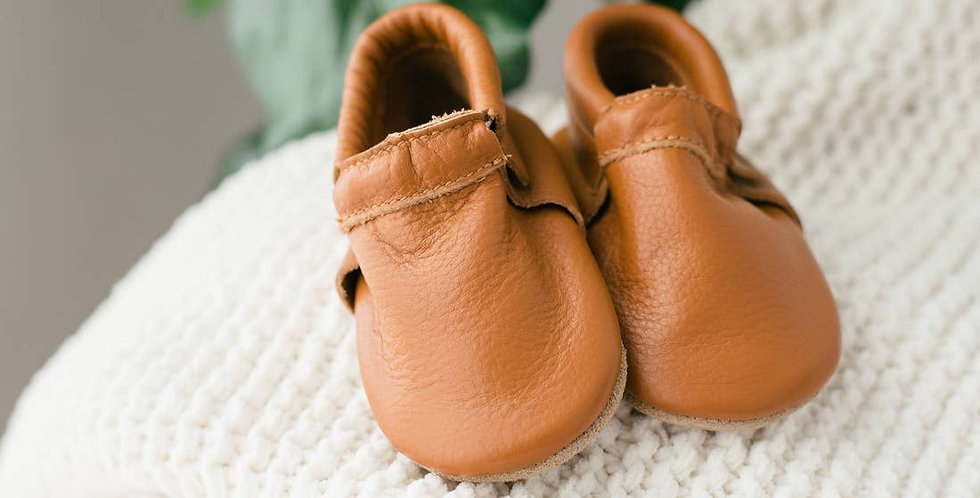 Bare Baby Moccasins - Brown