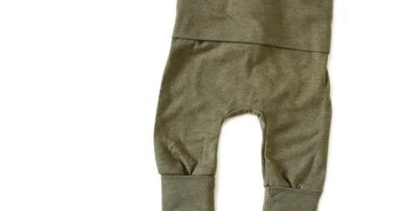 Grow With Me Pants Heathered Olive