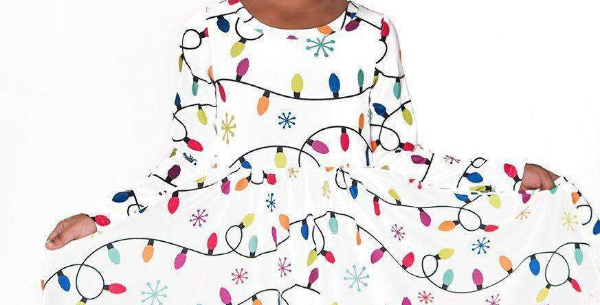 Christmas Lights Comfort Twirl Dress