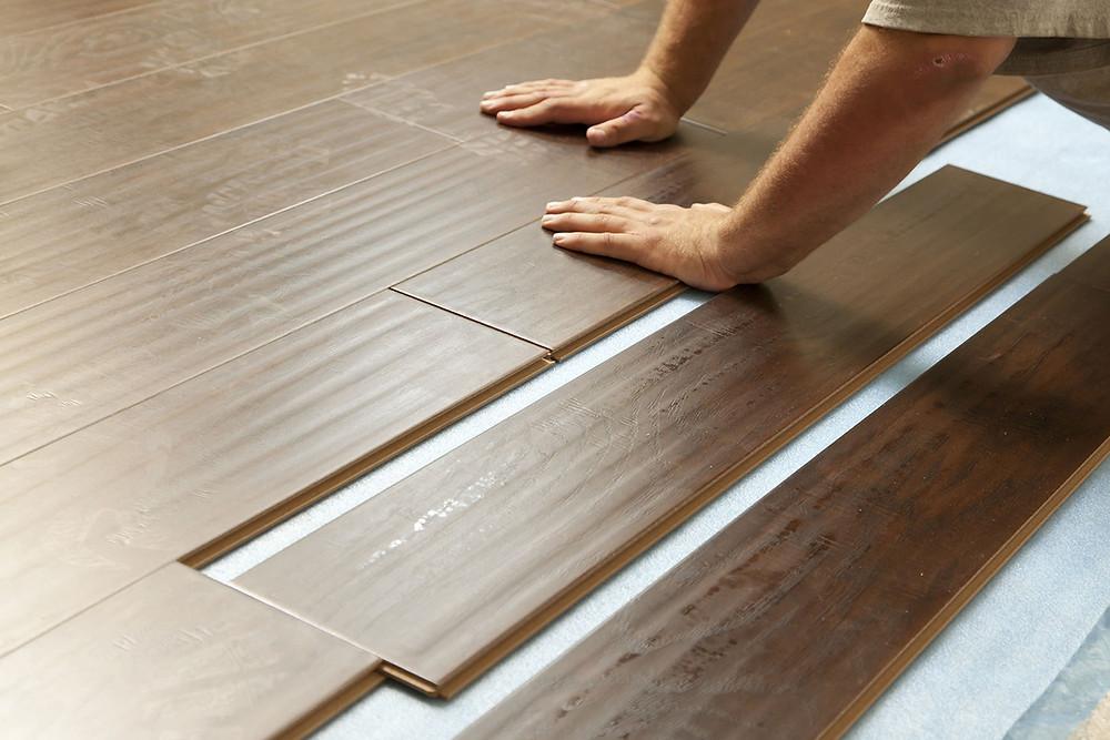 Installation of wooden floor