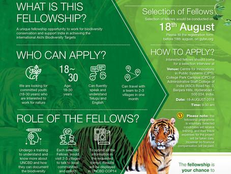 Telagana Biodiversity Fellowship Program