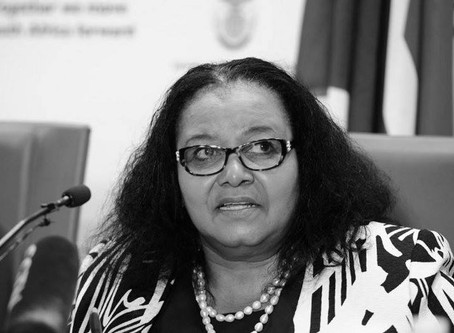 GYBN mourns the loss of South Africa's Minister of Environmental Affairs Edna Molewa