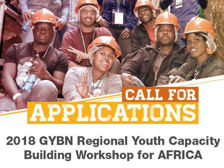 Call for Applications: 2018 GYBN Regional Youth Capacity Building Workshop for AFRICA