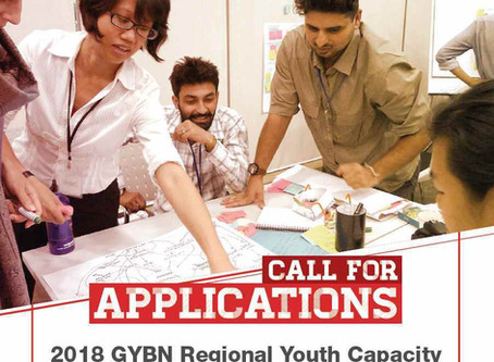 Call for Applications: 2018 GYBN Regional Youth Capacity Building Workshop for ASIA