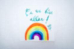 Cartes de Souhaits avec Aquarelle Arc-En-Ciel Ça va bien aller