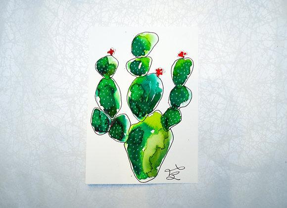 """Carte à encadrer à l'aquarelle 5 par 7"""""""