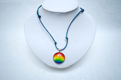 Rainbow Hand made wateNecklece color with stainles steel jewelry