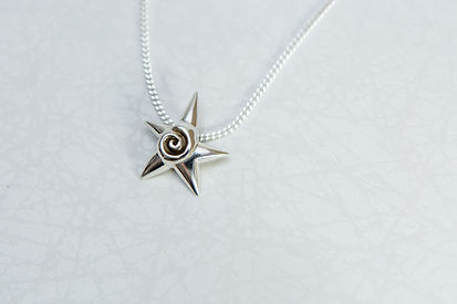 Sterling silver star piece Pendent Necklace