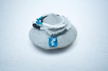 Bracelets avec pierres emi précieuses Pendentif Verre Fuson