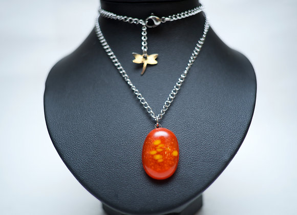 Collier Unique avec Pendentif en Verre