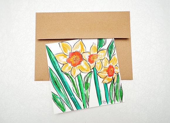 Carte de Souhaits - Narcisse