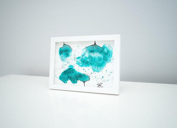 Carte de Souhaits - Fleurs Abstraites