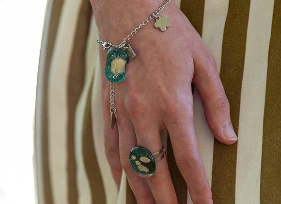 Ensemble de Bijoux Breloques Pendentifs en Verre